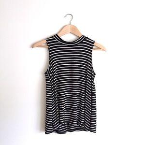 Black & White Striped Tank Top